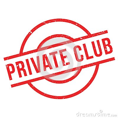 Private Club rubber stamp