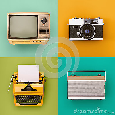 stock image of vintage / retro electronics set