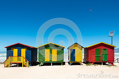 Hightech beach huts