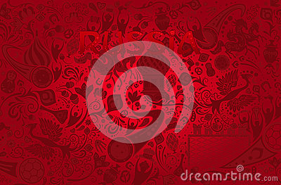 Russian red background, vector illustration