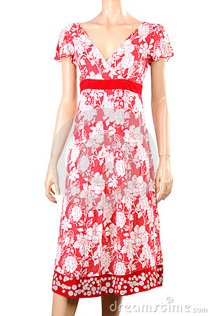 stock image of summer dress on a mannequin.