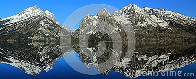 Teton Range Reflected in Jenny Lake, Grand Teton National Park