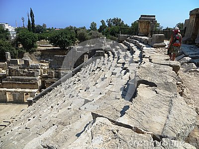 Amphitheatre stairs Sparta ancient Greece history archaeology