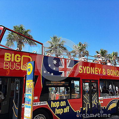 Red Sight Seeing Bus, Sydney, Australia