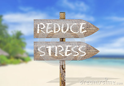Wooden direction sign with reduce stress