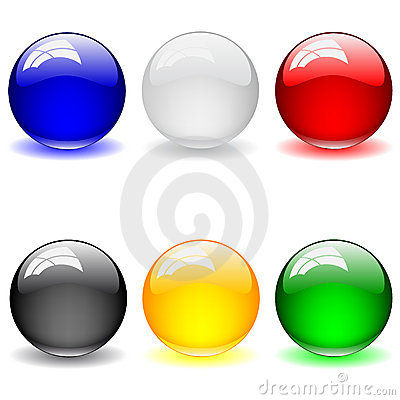 Set of clean glossy ball. Abstract background