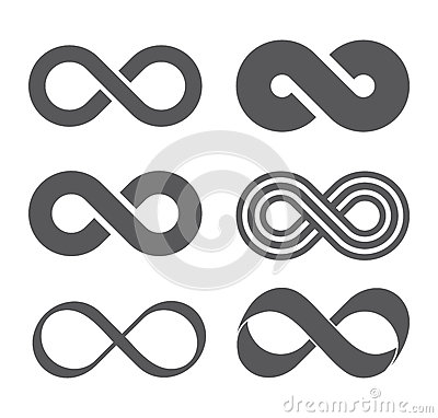 Infinity sign. Mobius strip