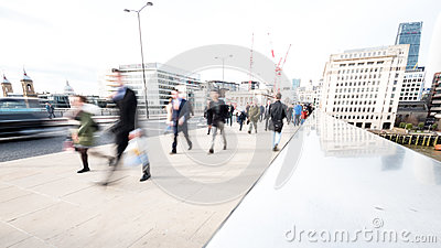 Abstract London commuters