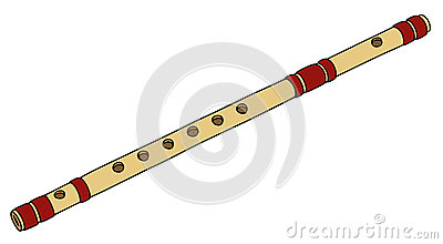 Old bamboo flute