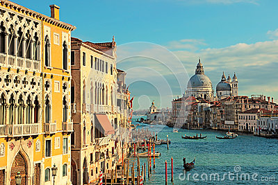 The Grand Canal seen from the Accademia Bridge, Venice