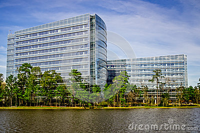 Lake Woodlands and Office Buildings