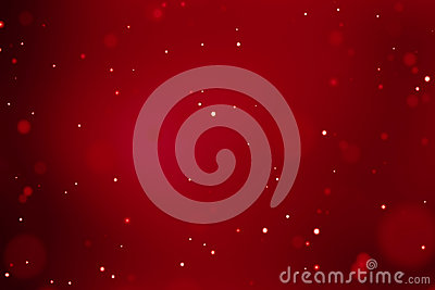 Abstract christmas gradient red background with bokeh flowing, festive holiday happy new year