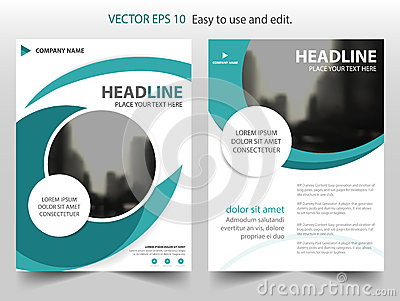 Blue abstract circle annual report Brochure design template vector. Business Flyers infographic magazine poster.
