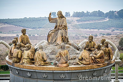 The statues of Jesus and Twelve Apostles, Domus Galilaeae in Israel