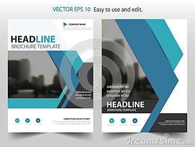 Blue Vector annual report Leaflet Brochure Flyer template design, book cover layout design, abstract business presentation