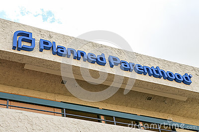 Planned Parenthood sign on building