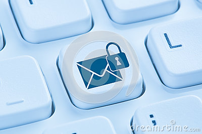 Sending encrypted E-Mail protection secure mail internet blue co