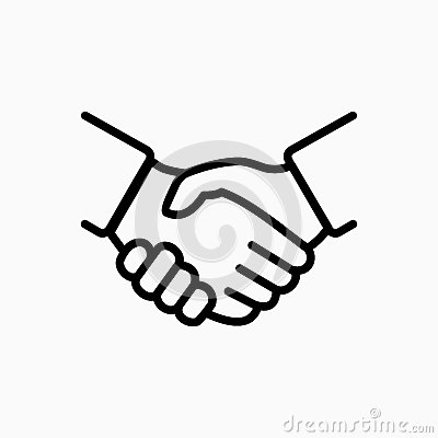 stock image of handshake icon simple vector illustration. deal or partner agreement symbol