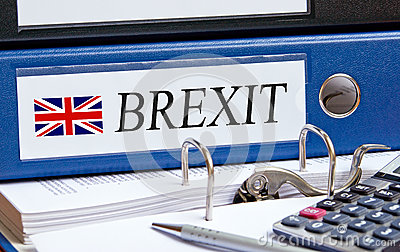 Brexit binder in the Office