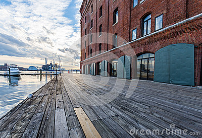 Fells Point Water Front of Hendersons Wharf in Baltimore, Maryla