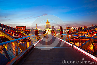 London Millennium bridge skyline UK