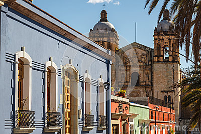 Colonial facades in the historic centre of Oaxaca