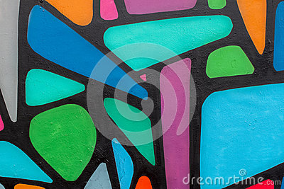 Abstract beautiful street art colorful graffiti style closeup. Modern iconic urban culture of youth. Detail. Can be