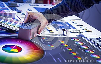 The process of offset printing and color correction