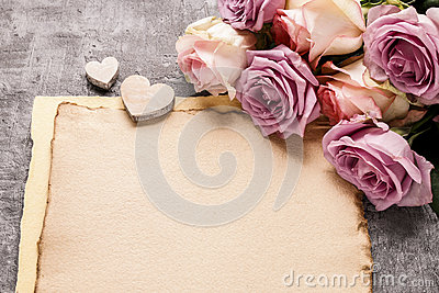 Romantic letter background, blank space