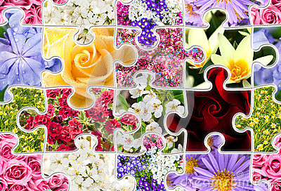 Flowers Spring Collection Seamless Puzzle