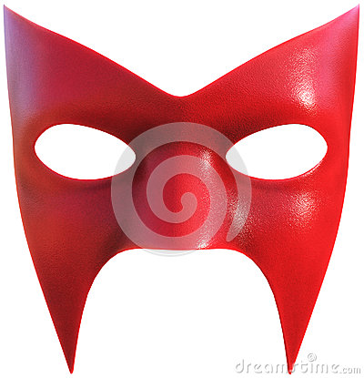 Superhero Face Mask Isolated