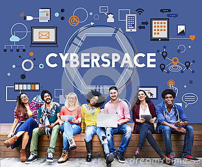 Cyberspace Globalization Connection Networking Technology Concep