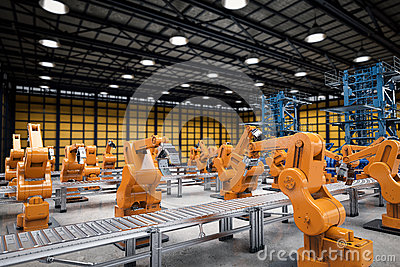 stock image of automation industry concept