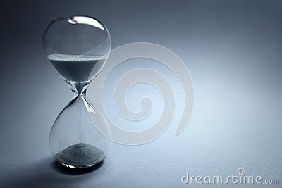 Hourglass time passing
