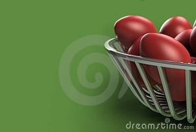 Red Easter eggs (with DOF effect)