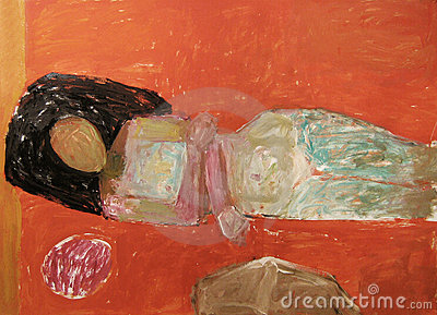 Abstract Nude Painting