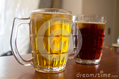 Two glass of beers