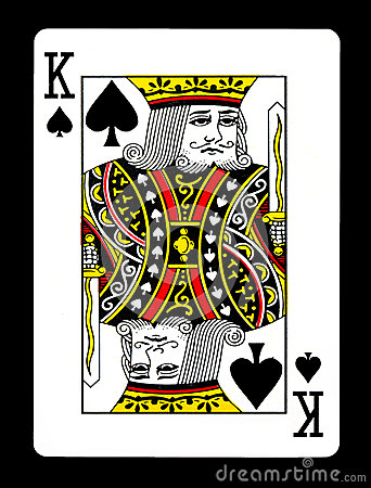 King of spades playing card,