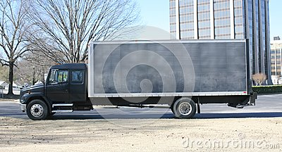 stock image of cargo and transport truck
