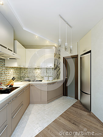 Modern elegant and luxurious kitchen interior design