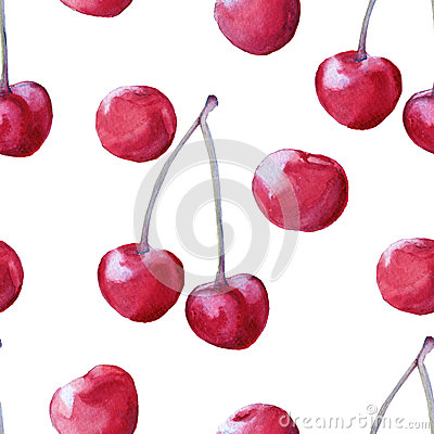 Background cherries. seamless pattern.