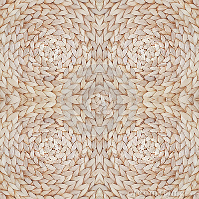 Straw pattern texture repeating seamless. Natural woven straw background.