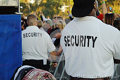 Security guards at concert