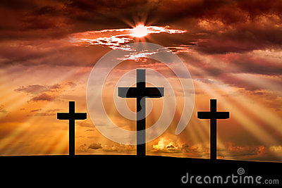 Jesus Christ cross. Easter, Good Friday concept