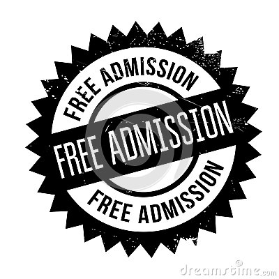 Free Admission rubber stamp