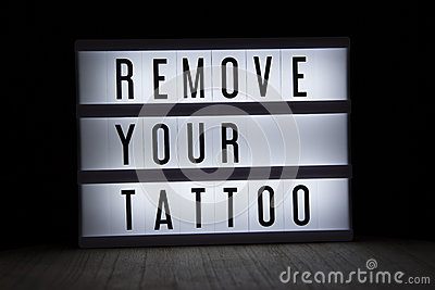 Remove your tattoo