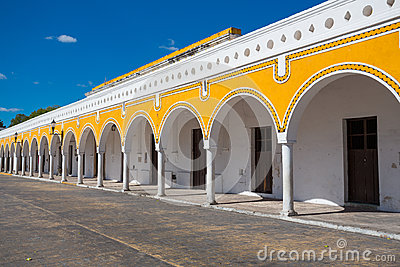 Yellow building in Izamal, Mexico
