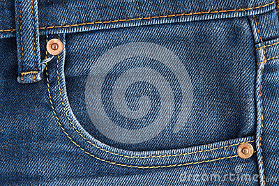 Denim jean pocket Seam