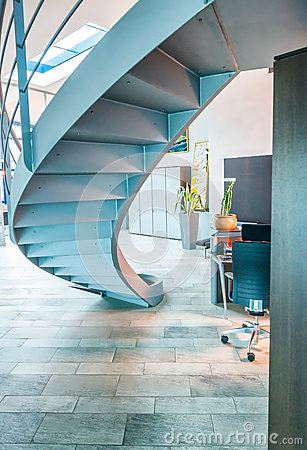 Modern staircase in contemporary office