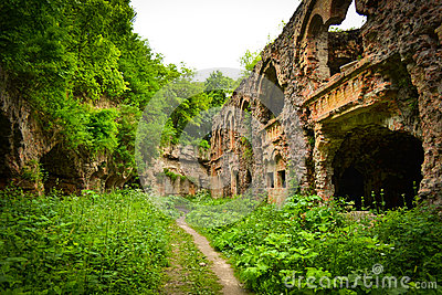 The ruins of the old military fort conquered by nature